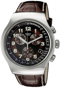 Buy Swatch Irony Analog Brown Dial Men's Watch - YOS413 Online at Low Prices in India - Amazon.in