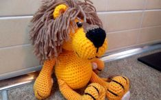 Желтый лев. Схема вязания крючком Автор: Елена