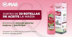 Sorteo de 30 botellas @aceiteslamasia con @Supermercadomas! #Sorteo #SumateAlRosa #AceiteDeOlivaSolidario