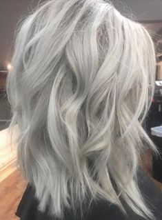 """Wonderful Photographs IceBlonde /Ash Blonde hair Color😍😍😍 - Style """"Hot"""" techniques for hair expansion The glue substance is often applied synthetic Keratin. Grey Hair Wig, Ice Blonde Hair, Brown Blonde Hair, Platinum Blonde Hair, Ash Hair, Ash Grey Hair, Silver Grey Hair, Lilac Hair, Silver Nails"""