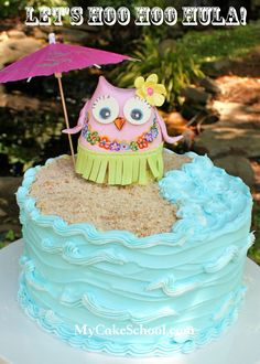 Let's Hoo Hoo Hula {Tutorial} on @My Cake School
