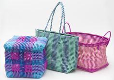 These brightly coloured bags and baskets are an initiative of social workers concerned with improving the livelihood of isolated and disadvantaged women in South Indian slum areas | Available instore only, telephone the QAGOMA Store on +61 (0)7 3842 9900