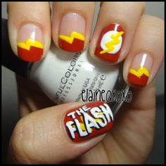 the flash by   elaineqxoxo #nail #nails #nailart