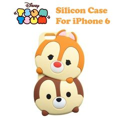 Disney Genuine Tsum Tsum Chip & Dale Silicon Soft Case Cover for iPhone 6