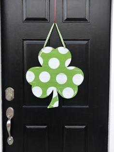 737b02835 Saint Patrick's Wreath - Shamrock Wreath - Monogram Wreath - Irish Decor