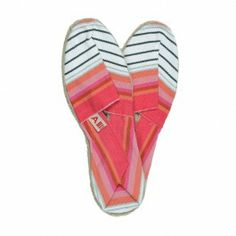 Espadrilles rayées #girly #pink #shoes #summer #beach