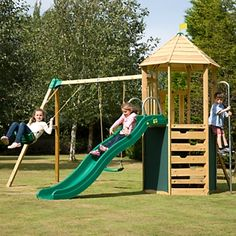 TP Toys Castlewood Tower Swing & Slide Set | Wooden Play Centres