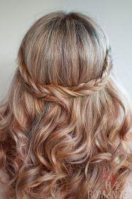 Haircolor Hair Romance - 30 braids 30 days - 9 - the fishtail braid half crown Hair styles ideas. Her hair! 30 braids for 30 days Crown Hairstyles, Pretty Hairstyles, Braided Hairstyles, Hairstyle Ideas, Simple Hairstyles, Style Hairstyle, School Hairstyles, Hairstyles Haircuts, Wedding Hair Down