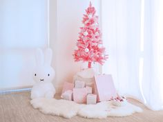 Dream Angel's pink Barbie Christmas tree on Dreamline Alliance Rose Gold Christmas Decorations, Tiny Christmas Trees, Christmas Room, Christmas Colors, Xmas Trees, Christmas Barbie, Merry And Bright, Pink Barbie, Lucca
