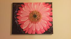 A painting of a gerber daisy for my mom!