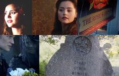"""Asylum of the Daleks - We meet Oswin wearing a red rose in her hair  The Snowmen - We meet Clara at The Rose and Crown inn, and at the very end see her in a different time by Clara Oswin Oswald's tombstone which has a rose carved in it...  COINCIDENCE?! I'd like to think not.  My Clara theory thus far is that she's Rose and Ten's daughter from the parallel universe."" -------> as cool as this theory was, it I think it has been kicked to the curb now that she is the Impossible Girl."