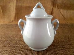 Meakin Bros Antique Ironstone Sugar Bowl with Lid
