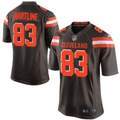 """$23.88 at """"MaryJersey""""(maryjerseyelway@gmail.com) Nike Browns 83 Brian Hartline Brown Team Color Men Stitched NFL New Elite Jersey"""