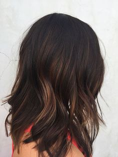 Dark Brown Balayage Color İdeas Highlights Black , Brown Balayage Hair