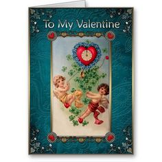 Valentines Day - Two Cupid and Watches. Valentines Day - Greeting Cards in Vintage Style Vintage Valentine Cards, Valentine Day Cards, Vintage Style, Vintage Fashion, Valentine's Day Greeting Cards, Cupid, Create Your Own, Best Gifts, Watches