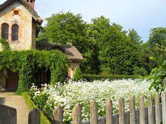 All white garden - Marie Antoinette's domain at Versailles.