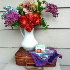 Spruce up your bathroom for spring with these colorful sets of hand knit washcloths! Many color collections available!