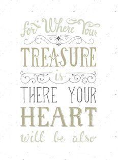 Free printable or desktop wallpaper // Matthew 6:19-21 // via theversesproject.com // by Chris Wright