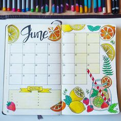 When life gives you lemons, make some lemonade . . #thecraftdesk #hellojune #june #bujo #bulletjournal #hellosummer #summer #summertime #lemons #lemonade #doodle #lettering #handlettering #moleskine #journaling #monthlyspread #bulletjournaling #bujonewbie #bujo2018 #bujoinspo #bujospread #bujolove #calendar #bulletjournalinspiration #creativejournal #journaltherapy #creative #planner #planning #showmeyourplanner