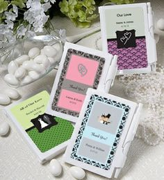 Personalized Notebook Favors (Over 200 Designs) from Wedding Favors Unlimited