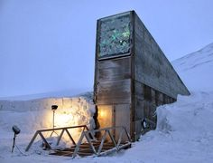 The Svalbard Global Seed Vault, also known as the Doomsday Seed Vault, is a Noah's Ark for seeds.  In the event of a global catastrophe, food production can be restarted anywhere on the planet.  The vault holds over 770,000 seed samples from all over the world.