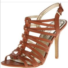 "Never worn- Rampage Sandals Rampage sandal- cognac, open toe, high heel 4.25"", adjustable buckle.... NEVER WORN‼️priced on Amazon $32. Rampage Shoes Sandals"