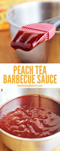 Here's a barbecue sauce recipe you've got to try! This unique Peach Tea BBQ Sauce begins with peach herbal tea. A fun change of pace for your summer grilling and cookouts.