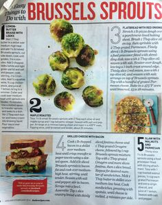 Brussels Sprouts, 5 ways