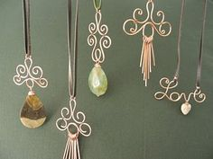 Copper Wire Pendants from LilyGirl Jewelry: In the Studio: Artful Copper