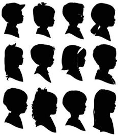 silhouettes :: use hair styles for profile pics of family if hair is hard to capture