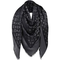 Pre-owned Reversible Black Silver Large Shawl Scarf Mint With Box (€390) ❤ liked on Polyvore featuring accessories, scarves, black silver, louis vuitton shawl, metallic scarves, mint scarves, metallic shawl and louis vuitton