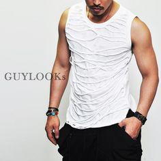 Avant Garde Sleeveless Mens Fringe Strap Silket Undershirt Tanktop by Guylook | eBay