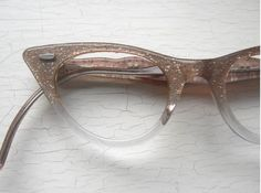 Pink Glitter Cat Eye Eyeglass Frames w Poodle on the Temples Cute Glasses, Cat Eye Glasses, Glasses Frames, Four Eyes, Pink Glitter, Poodle, Eyeglasses, Bag Accessories, Rockabilly Clothing