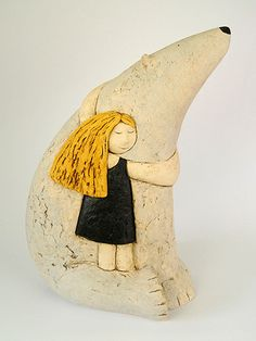 Ceramics by Paul Smith at Studiopottery.co.uk - 2010. _Icebear_ Hand built clay, Height 39cm, width 29cm.
