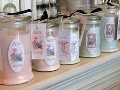 Lovely soy candles made by Aroha Soaps NZ Soy Candle Making, Pyrex, Soy Candles, Soaps, Mason Jars, Crystals, Antiques, How To Make, Handmade