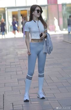 Sporty Outfits, Sporty Style, See Through Clothes, Asian Model Girl, Latex Pants, Yoga Pants Girls, Disco Pants, Skin Tight, Girl Crushes