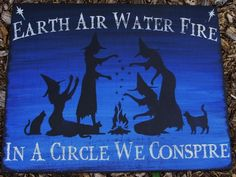 Primitive Witch Signs witchcraft Earth air water fire halloween decorations…