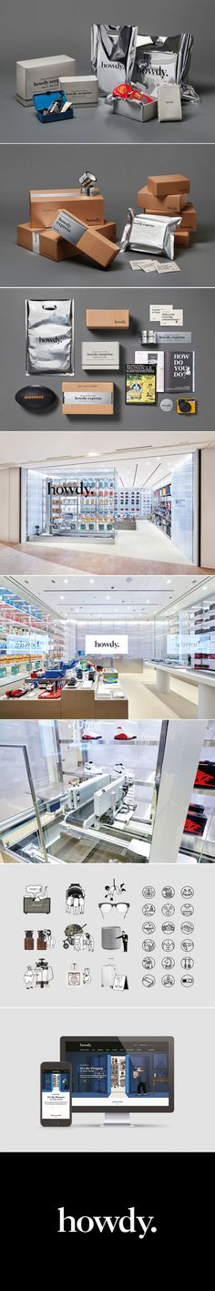 """Say """"Howdy"""" To This Elegant E-Commerce Brand - created on Fashion Packaging, Brand Packaging, Packaging Design, Branding Design, Corporate Identity, Visual Identity, Brand Identity, Creativity And Innovation, Innovation News"""