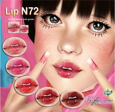 Lipstick N72 plus Nose Mask V2 by Tifa - Sims 3 Downloads CC Caboodle