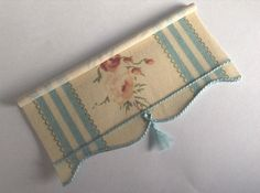 12th scale miniature blind for dollshouse Rose blue by minichris