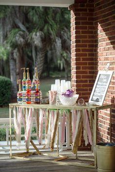 Fun summer wedding idea - Italian soda bar {Tina Sargeant Photography}