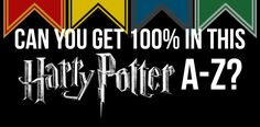 Can You Beat This Infuriatingly Difficult Harry Potter A-Z Quiz?