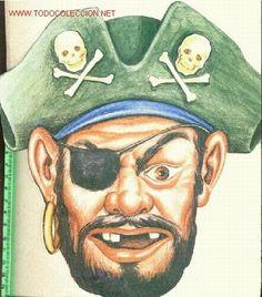 Careta de cartón de pirata