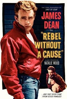 James Dean in Rebel Without a Cause, Natalie Wood, film, movie. Old Movie Posters, Classic Movie Posters, Cinema Posters, Classic Movies, Film Posters, Vintage Posters, Art Posters, Poster Prints, Illustrations Posters