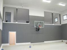 4 car garage, basketball court. looks like it is below ground.