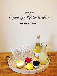 champagne and lemonade drink tray http://www.weddingchicks.com/2013/10/15/nokia-lumia-1020/