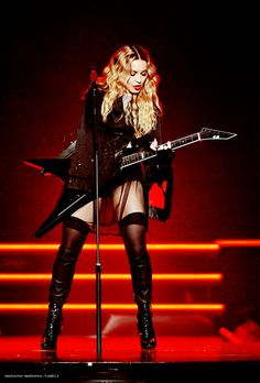 Madonna performing on the Rebel Heart tour in Chicago on 9/28/15