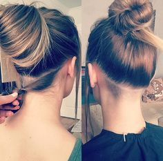 Undercut Hairstyles Women, Undercut Long Hair, Side Hairstyles, Undercut Hair Designs, Shaved Hair Designs, Hair Today, Hair Dos, New Hair, Hair Inspiration