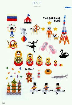 Russia cross stitch