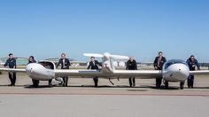 The HY4 hydrogen fuel cell four passenger aircraft on the runway at Stuttgart Airport